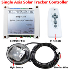 Electronic Single Axis Solar Tracking Tracker Controller +Waterproof Light Sensor +IR Remote for Solar Cell Solar Panel System(China)