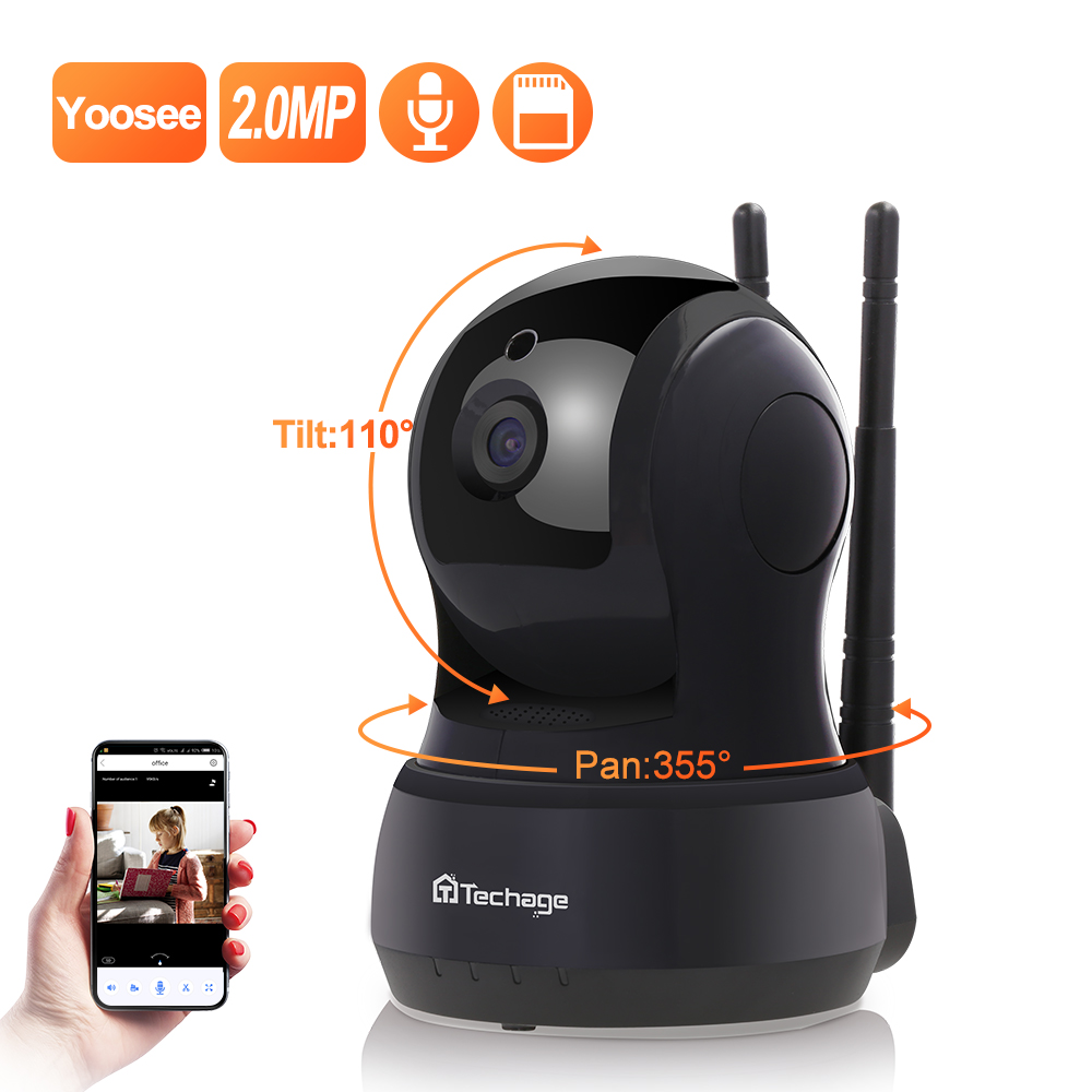 Techage  2MP Wireless IP Camera Two-Way Audio Security Wifi Camera Baby Monitor  Indoor Video Surveillance Dome Camera