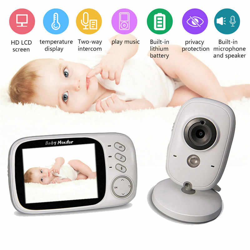 VB603 3.2inch Color LCD Display Screen Automatic Night Vision Temperature Monitoring 2-Way Audio Wireless Baby Pet phone Monitor