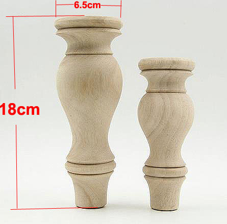 4Pieces/Lot  18x6.5x6.5cm Solid Wood Furniture Foot  TV Cabinet Tea Table Legs