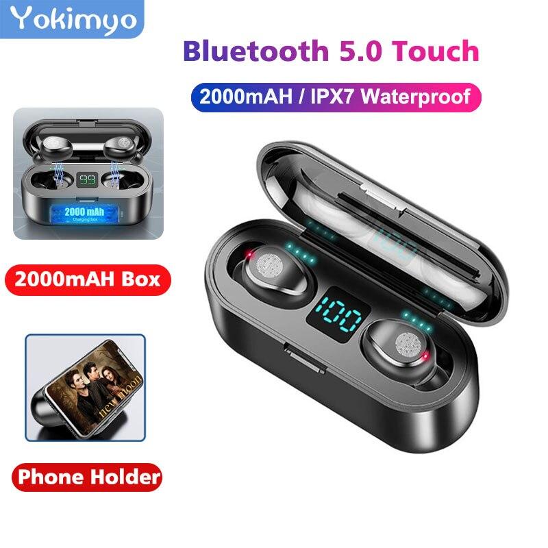 Tws 5.0 Waterproof Sport Wireless Bluetooth Earphone Gaming Headset LED Display Mini Stereo Bass Bluetooth Earphone For Phone