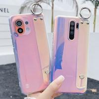 Traum Farbe Fall Für Xiaomi Redmi Hinweis 10 Pro 10s 9S 9T 9 9A 8 Mi 10T Pro 11 Lite POCO X3 NFC F3 M3 Weiche TPU Handgelenk Strap Abdeckung