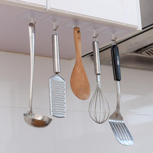 4Pcs/lot Bearing 3KGS Transparent Self-adhesive Strong Wall Hook Clover Kitchen Hooks Waterproof Bathroom Accessories