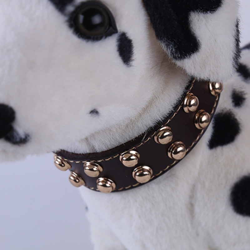 Genuine Leather Cowhide Metal Rivet Dog Collar Neck Ring Decoration Pet Supplies New Style 2019