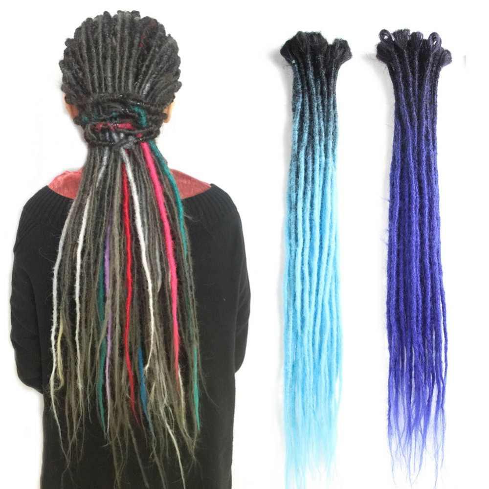 SAMBRAID дредлоки для наращивания волос 24 дюйма крючком синтетические плетеные волосы хип-хоп стиль дредс крючком волосы Омбре плетение волос