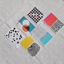 Stationery-Stickers Combination-Card Morandi-Color Background Fixed-Decoration Wall Creative