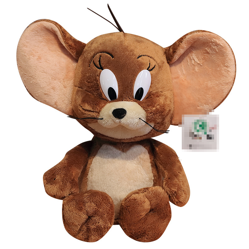 New Hot Cat And Mouse Plush Toy Jerry Tom For Baby Kids New Year Birthday Gift 28cm 40cm 1pcs/pack Soft Safety Doll