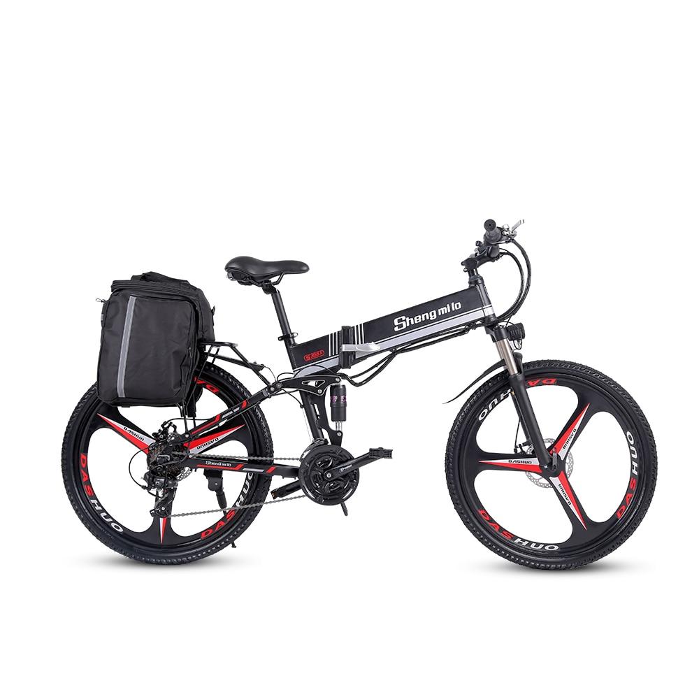 2021 Новый M80 взрослых внедорожный Электрический велосипед 26 дюймов Ebike350W 12.8AH литий Батарея складной горный электрический велосипед для мужч...