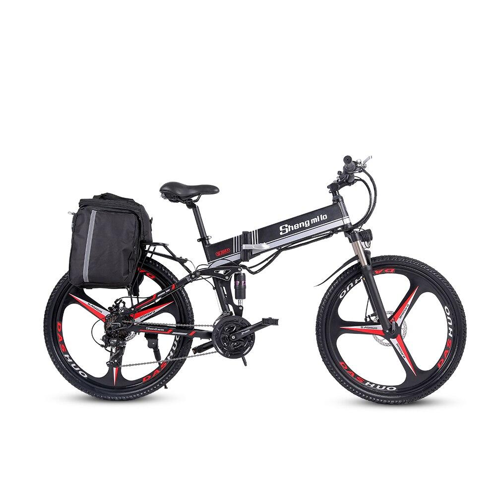 2021 nouveau M80 adulte tout-terrain vélo électrique 26 pouces Ebike250W 12.8AH Lithium batterie pliable montagne vélo électrique pour hommes