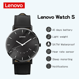 Image 2 - Lenovo Original Watch S Smart Watch Quartz Watches Intelligent Reminder 50M Waterproof Long Battery Life Sports Smartwatch