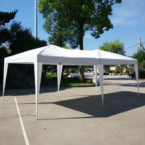 3 x 6m Four Windows Practical Waterproof Folding Tent Black - 3
