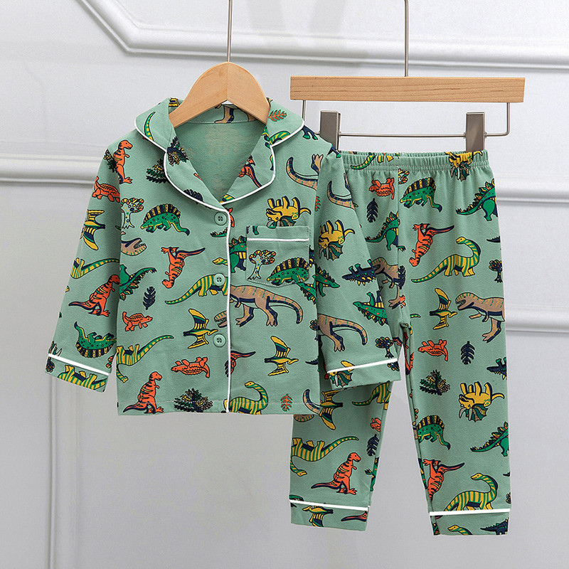 SAILEROAD Children Cartoon Dinosaur Pajamas For Girls Kids Animal Printed Pyjamas Girls Pajamas Child Home Wear Boys Sleepwear 1
