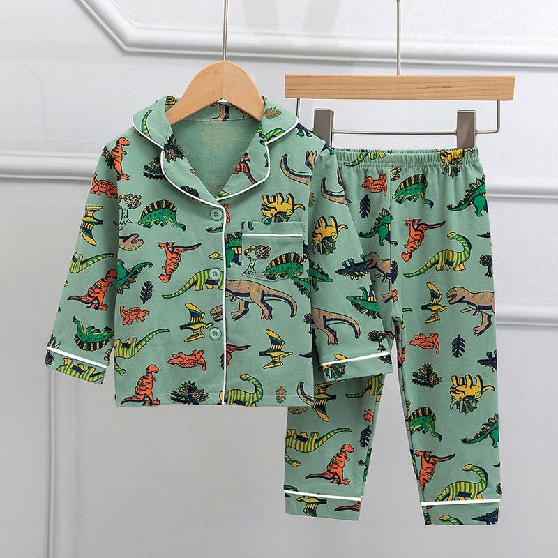 SAILEROAD Children Cartoon Dinosaur Pajamas For Girls Kids Animal Printed Pyjamas Girls Pajamas Child Home Wear Boys Sleepwear 1