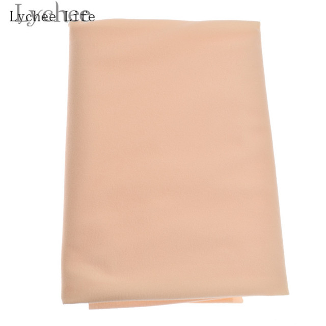 Lychee Life Doll Skin Fabric Solid Color Plush Cloth DIY Patchwork Sewing Supplies Accessories 2