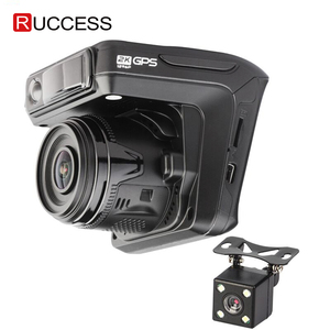 Image 1 - Ruccess Dash Camera DVR 3 in 1 Radar Detector with GPS for Russia Full HD 1080P 1296P Dashcam 2 Camera Video Recorder for Car