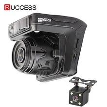Ruccess caméra de tableau de bord 3 en 1, détecteur de Radar, avec GPS, Dashcam 2, Full HD 1080P 1296P, enregistreur vidéo pour voiture