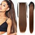 Супер длинный прямой хвост с зажимом, синтетические волосы, хвост, Шпилька для волос, синтетический конский хвост, удлинители волос