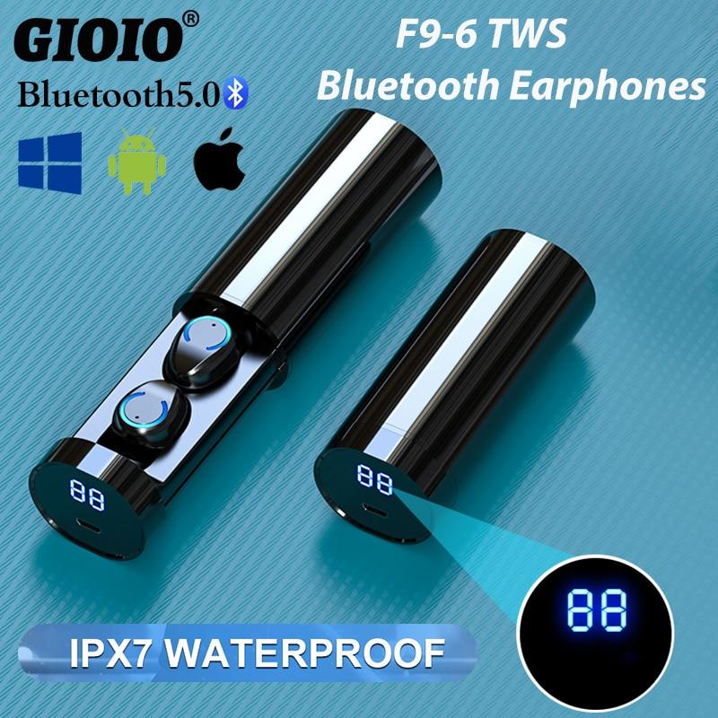 TWS F9-6 Mini Bluetooth casque étanche IPX7 contrôle tactile Sport écouteurs pour Huawei Oppo Iphone Xiaomi casque sans fil