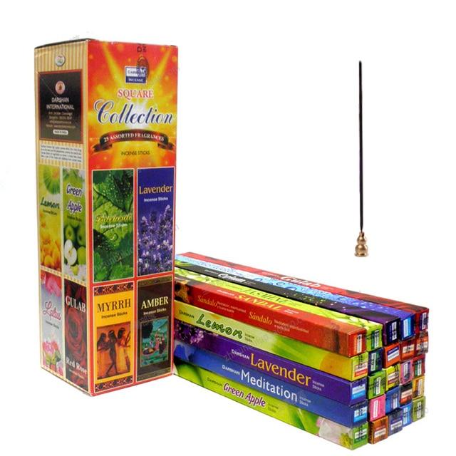 Tibetan 10 / 25 Smells India Stick Incenses White sage Sandalwood Natural Household Indoor Clean Air Indian Incense Sticks 1