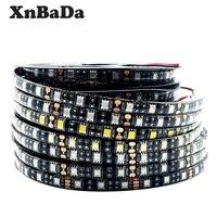 5M 5050 60 LEDs/m Flexible Schwarz PCB LED Streifen Licht Weiß/RGB /Warm Weiß/rot/Grün/Blau/Gelb Wasserdichte IP30/65 DC12V