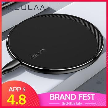 Cargador inalámbrico KUULAA Qi para iPhone 11 Pro 8 X XR XS Max 10W carga rápida inalámbrica para Samsung S10 S9 S8 cargador USB Pad