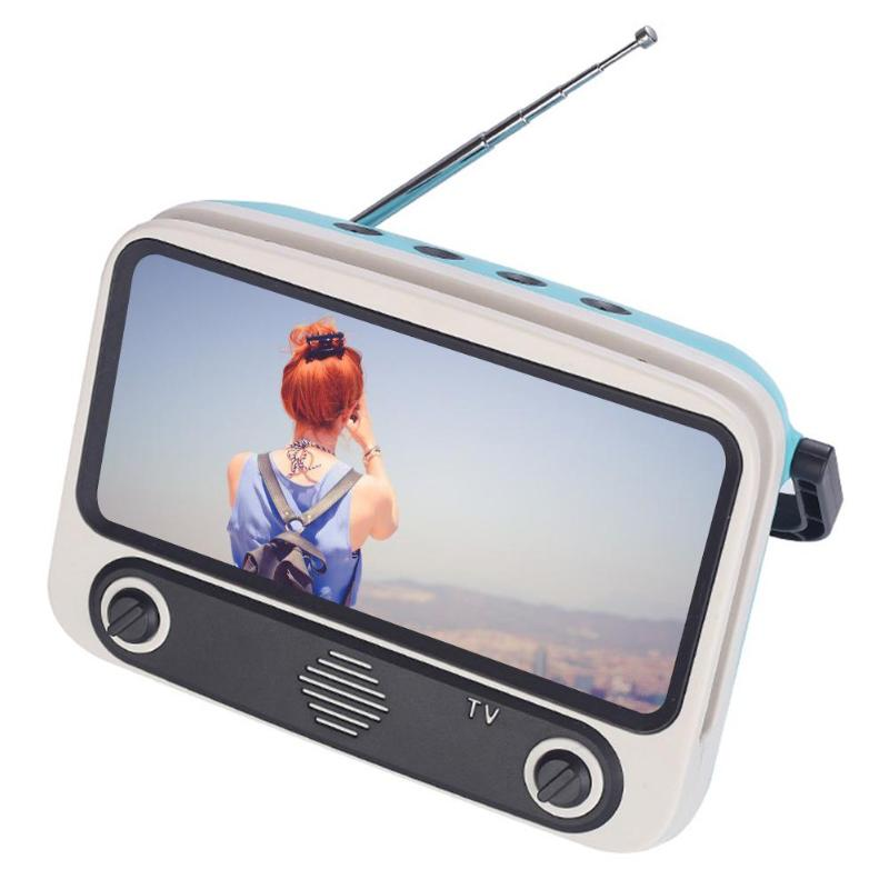 Retro Mini Bluetooth Lautsprecher Handy Filme <font><b>TV</b></font> Halter Musik Player Portable Wireless <font><b>Sound</b></font> Box für U Disk TF Karte image