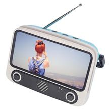 Retro Mini Bluetooth Luidspreker Mobiele Telefoon Films Tv Houder Muziekspeler Draagbare Wireless Sound Box Voor U Disk Tf Card
