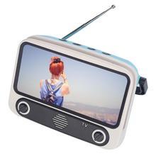 Retro mini bluetooth alto falante filmes do telefone móvel tv titular leitor de música caixa de som sem fio portátil para u disco cartão tf