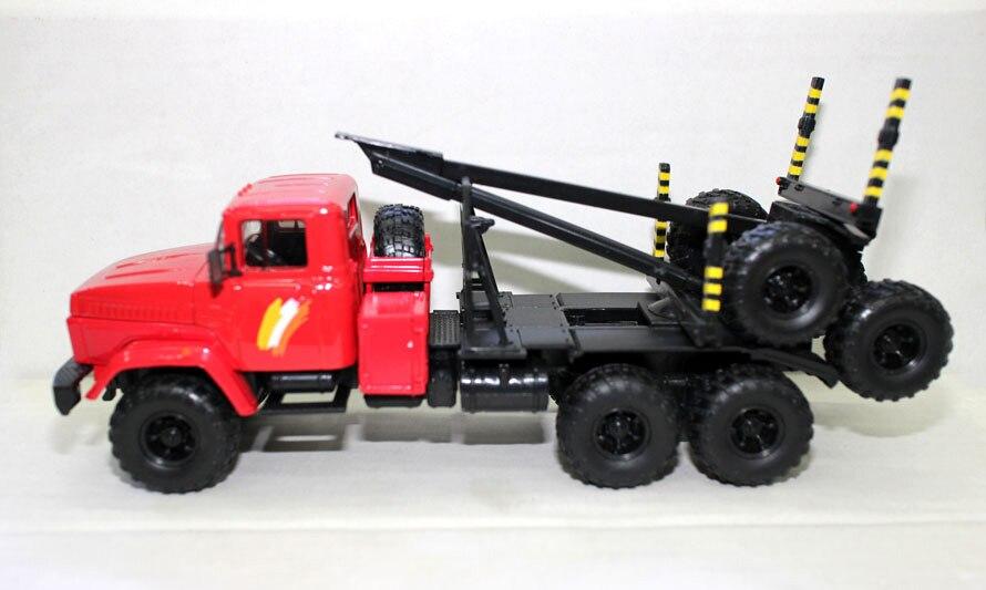 Offre spéciale rare 1:43 russie Union soviétique camion lourd bois Transport véhicule alliage Collection modèle