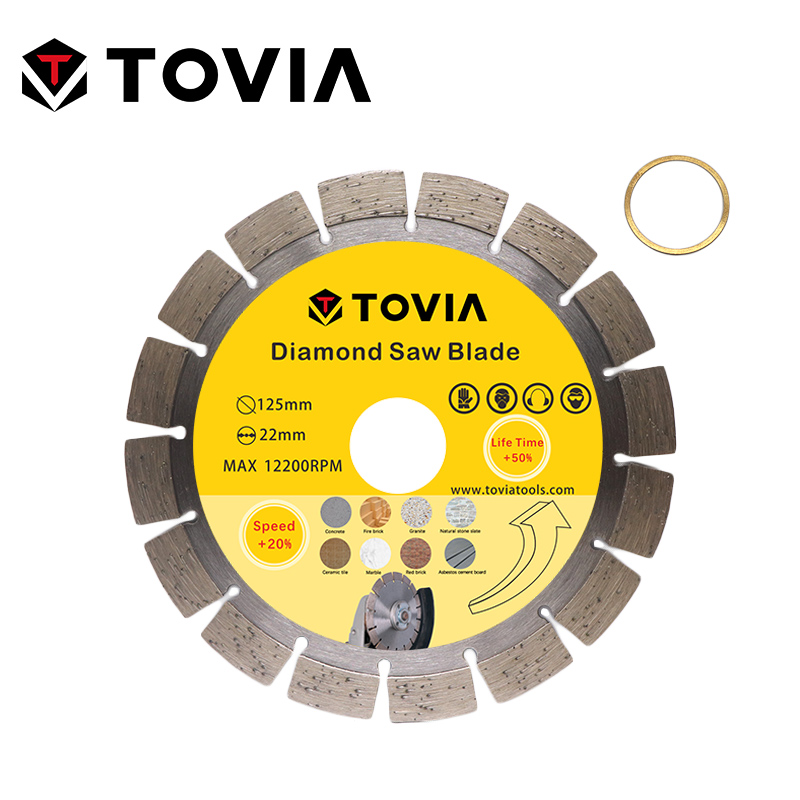 TOVIA Diamond Circular Saw Blades Diamond Saw Disc 125mm Cutting Stone Granite Marble Concrete Cutting Tool Blade