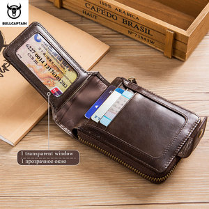Image 2 - BULLCAPTAIN Brand mens Wallet Genuine Leather Purse Male Rfid Wallet Multifunction Storage Bag Coin Purse Wallets Card Bags