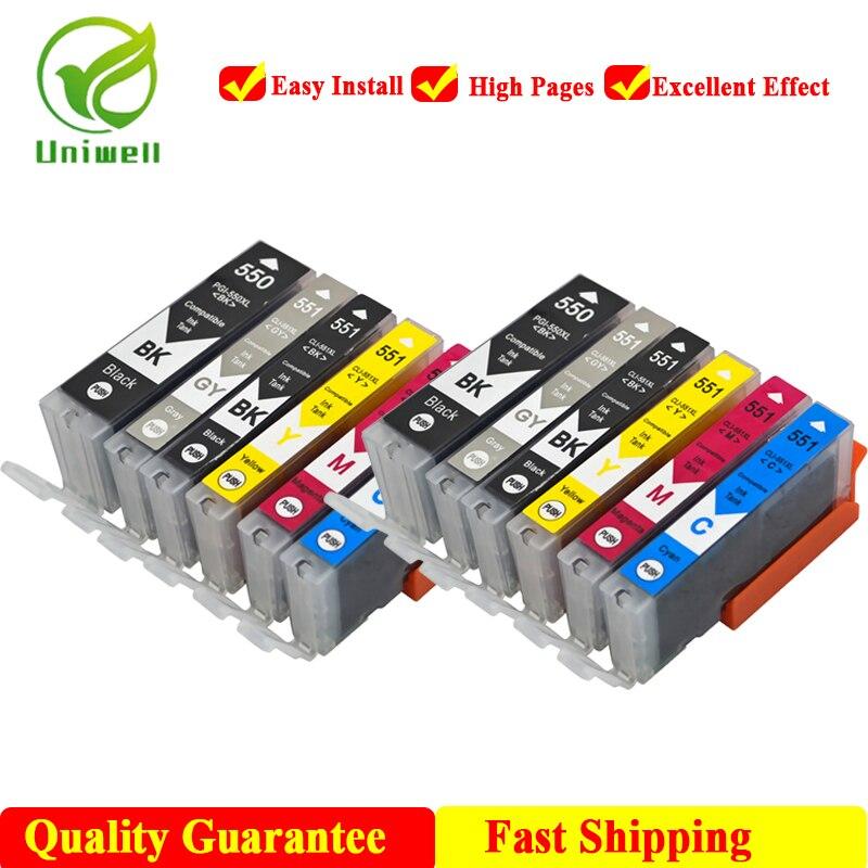 PGI-550 чернильный картридж для Canon PGI550 PGI 550 IP7250 MG5450 MX925 MG5550 MG6450 MG5650 MG6650 IX6850 MX725 принтер 6 цветов
