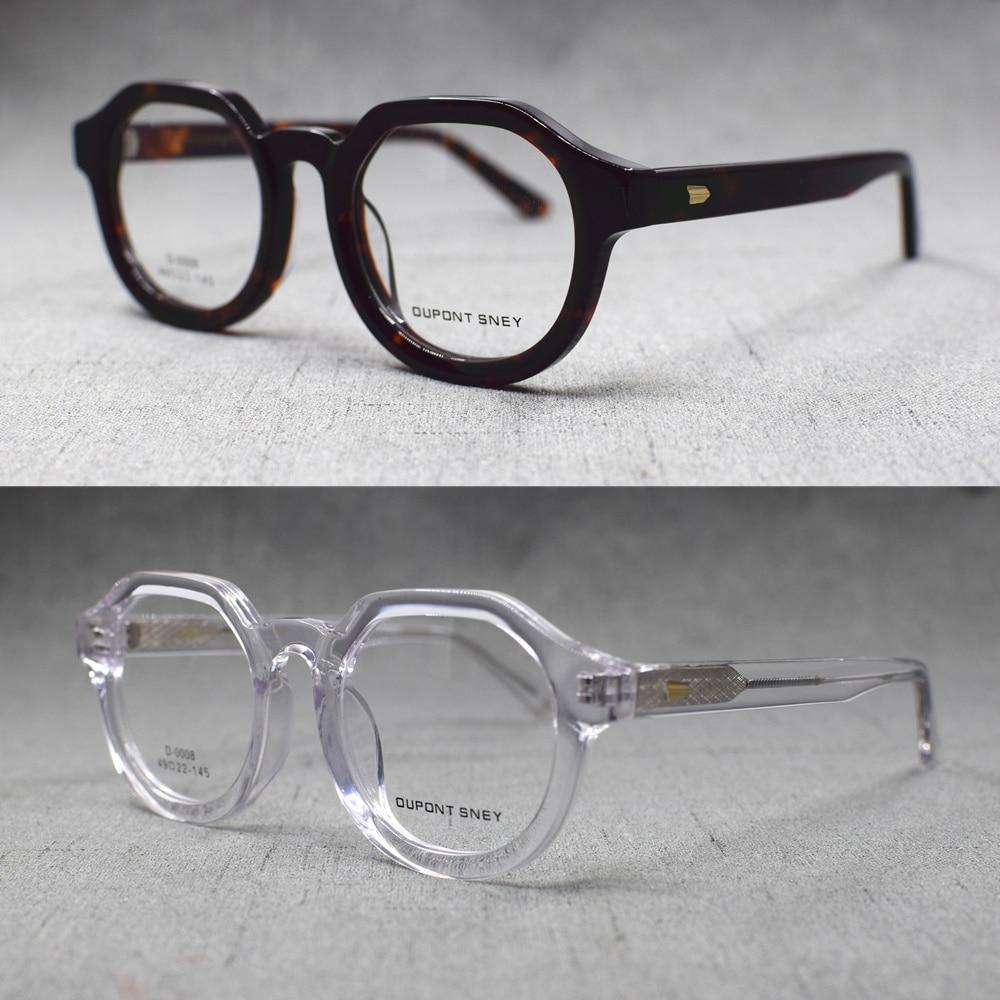 Vintage Acetate Full Rim Oval Eyeglass Frames Men Women Rx Able Glasses Top Quality Optical Myopia