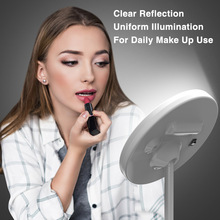 desktop 36led facial makeup mirror compact size 180 degree rotation tabletop cosmetic makeup mirror with magnification new Makeup Mirror Stepless Dimmable LED Makeup Mirror 90 Degree Rotation Makeup Adjustable Table Vanity Mirror Portable Home Travel
