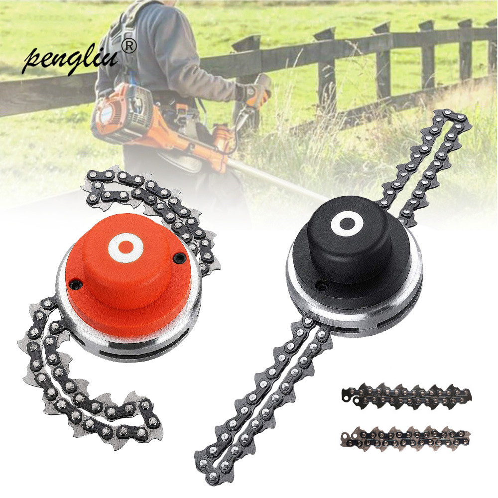 2019 New Universal 65Mn Lawn Mower Chain Grass Trimmer Head Chain Brushcutter Garden Trimmer Grass Cutter Spare Parts Tools(China)
