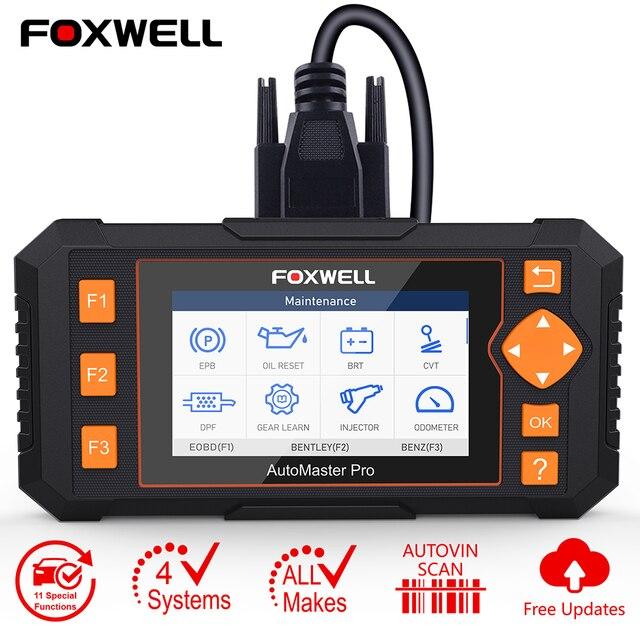 Foxwell – NT634 Scanner de diagnostic de voiture, outil de diagnostic de moteur ABS SRS, système de Transmission EPB TPMS DPF, réinitialisation dhuile, EOBD, OBD2