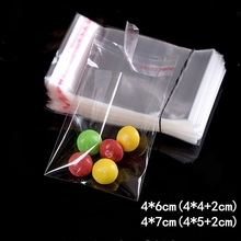 1000pcs 4*6/7cm  Small Clear Packing Bags Opp Jewelry/Gift/chocolate Candy Jewelry Plastic Bag Storage