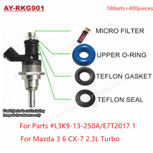 Free Shipping 6Sets For Mazda 3 6 CX 7 2.3 Turbo GDI Fuel Injector Repair Servince Kits For L3K9 13 250A E7T2017 1 For AY RKG901