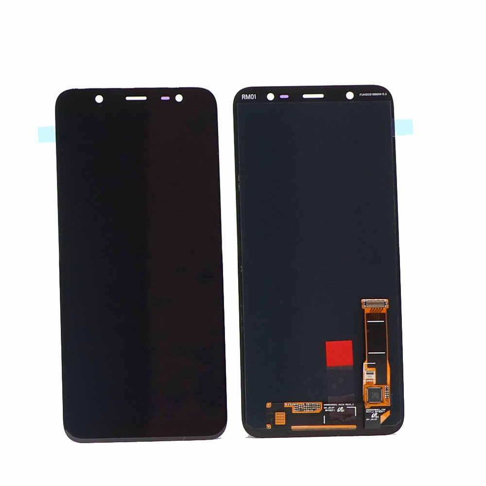 الأصلي سوبر AMOLED J8 LCD شاشة لسامسونج غالاكسي J810 2018 J810F SM-J810F الهاتف عرض محول الأرقام بشاشة تعمل بلمس