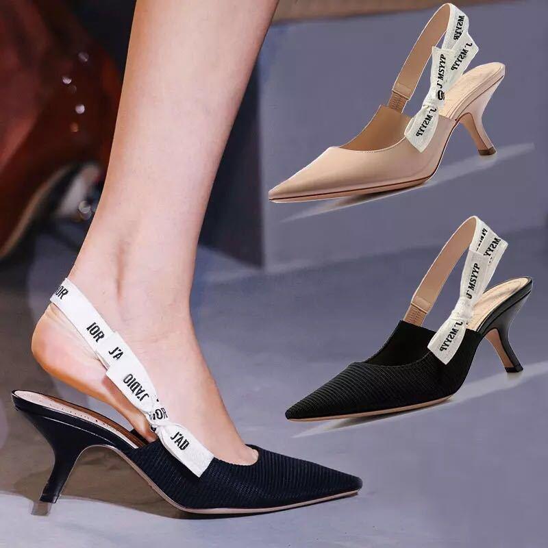 Ladies Shoes Casual Sandal Side Empty  Bow Women's Shoes Designer Shoes Women Famous Brands