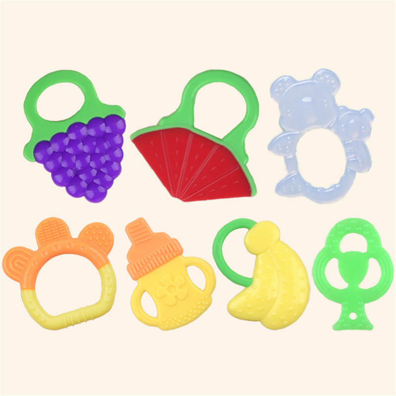 1PCS Cute Colorful Rainbow Rings Baby Teether Toy Crib Bed Stroller Hanging Rattles Toy Decoration Educational Gift Doll
