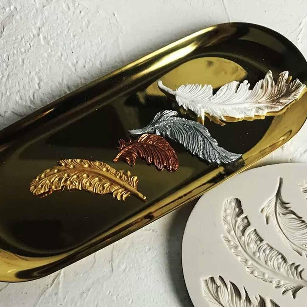 SEN Pluma de Pavo Real 3D en Forma de Silicona Fondant Cake Mold Craft Hornear Herramienta de az/úcar al Azar
