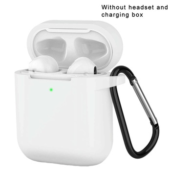 Mini Soft Silicone Case Airpods Shockproof Cover for Air Pods Protector Case for Apple Plastic Boxes 5.6*4.7*2.8cm Dpower image