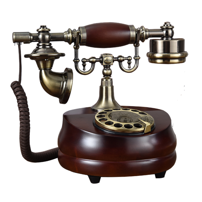 Classic Retro Corded Telephone Rotary Dial Phone Landline, Mechanical Dual Bell, Electronic Bell Old Fashioned Phone for Home