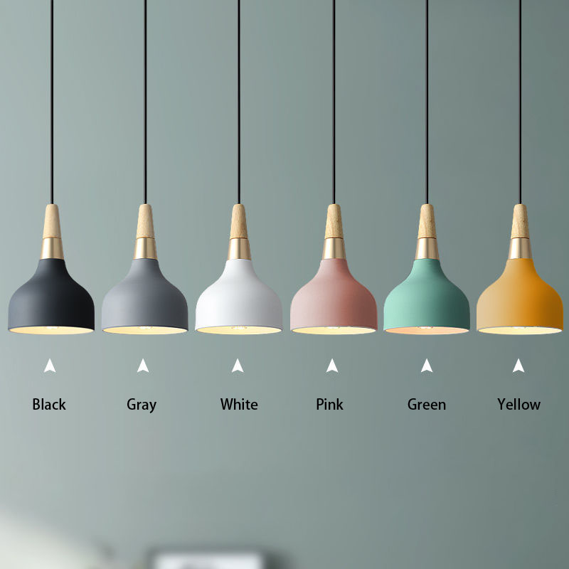 Nordic Maccaron светодиодный Люстра современный минималист бар прикроватная тумбочка для спальни гостиная люстра|Подвесные светильники| | АлиЭкспресс