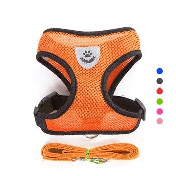 Pets Adjustable & Reflective Harness & Leash Set