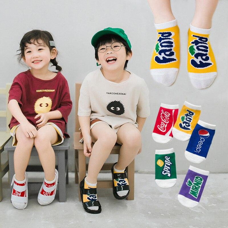 C072 CHILDREN'S Socks Zhuo Shang Mian Pin Children's Socks Soda Lettered No-show Socks Babies' Socks Baby Socks