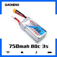4 шт. Gaoneng GNB 11,1 V 750mAh 80C 3S XT30 вилка Lipo батарея для RC FPV Racing Cine Whoop BetaFPV Дрон