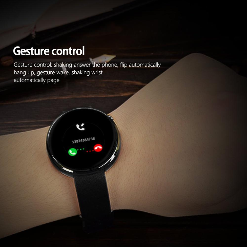 Dm360 preto à prova dwaterproof água relógio de pulso inteligente pedômetro cronômetro função anti perdida alarme inteligente lembrete sedentário - 3