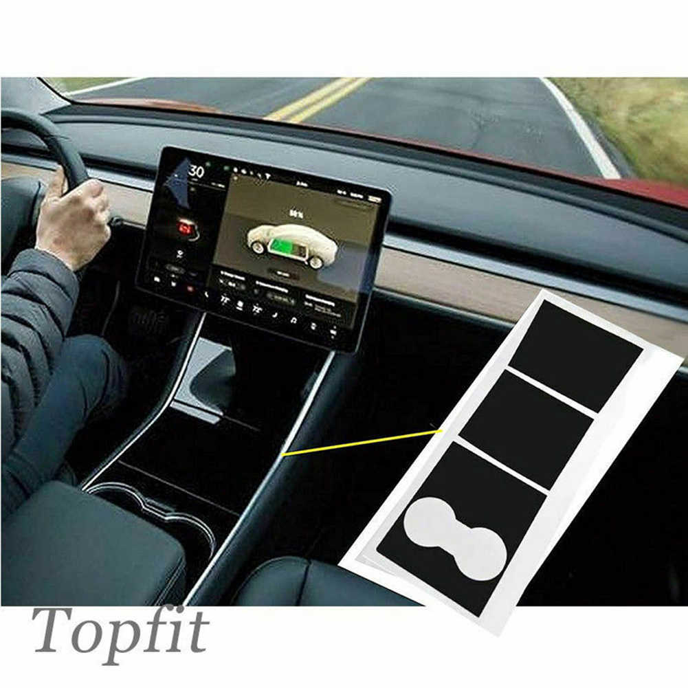 Center Console Wrap Car Dashboard Vinyl Stickers For Tesla Model 3 Decal Durable